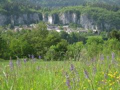 Rock Climbing Photo: Climbing above the village of Bohinjska Bela.