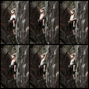 Rock Climbing Photo: sequence of lily making a tough clip