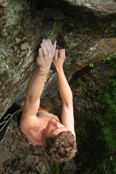 Rock Climbing Photo: otey, last few moves