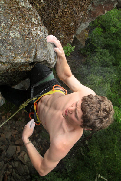 Rock Climbing Photo: i love this exposure! otey grabbing the top with t...