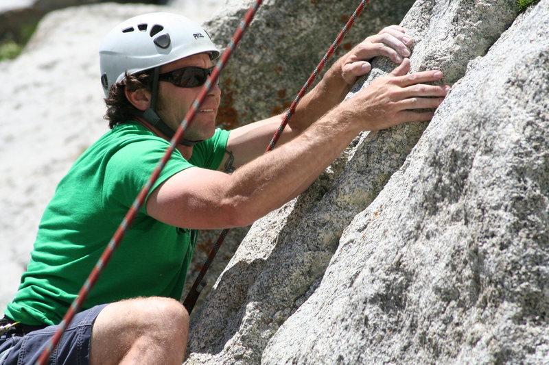 Jake Werner on top rope