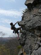 Rock Climbing Photo: Jared midway up Sesame Street