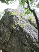 Rock Climbing Photo: The start of the climb. The first bolt isn't exact...