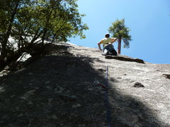 Rock Climbing Photo: At the second clip.