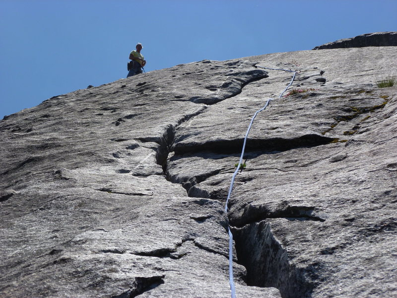 Rock Climbing Photo: Looking up the third pitch, or the second pitch if...