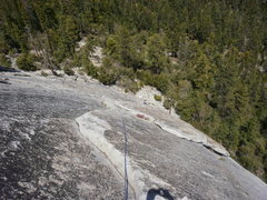 "Rock Climbing Photo: Looking down the ""3rd"" pitch.  You can e..."
