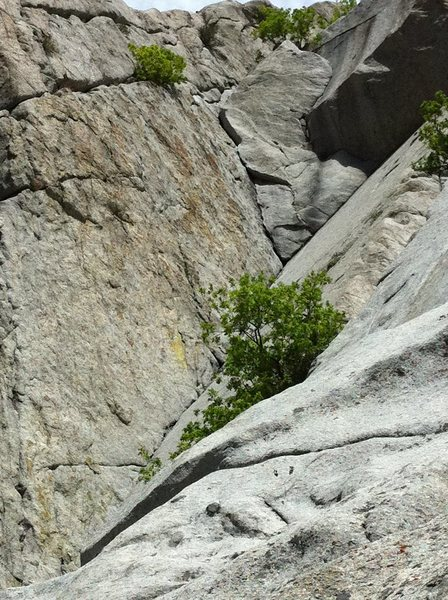 Rock Climbing Photo: View of some of the first and all the of 2nd pitch...