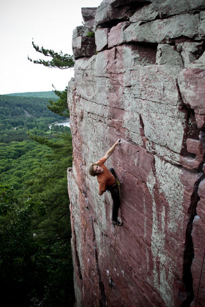 Rock Climbing Photo: Clownin' around on the lead of Flake Route. Photo ...