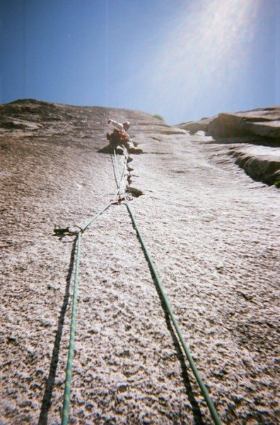 Rock Climbing Photo: Washington Column, high up on the South Face.  Thi...