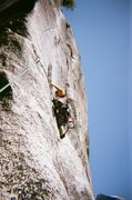 Rock Climbing Photo: Washington Column, South Face.  High up, exiting t...