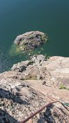 Rock Climbing Photo: Looking down from the anchors of Sky's the Limit.