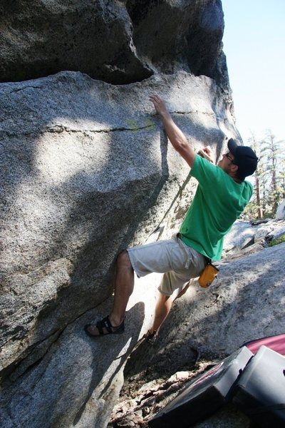 Rock Climbing Photo: Will passed the crux and moving on up on Glass Dir...