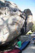 Rock Climbing Photo: Glass Slippers V4 Topo
