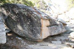 Rock Climbing Photo: Problem A V3 Topo