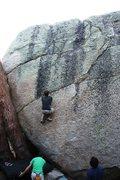 Rock Climbing Photo: Tim at the first break