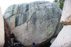 Rock Climbing Photo: Problem A V0, Topo