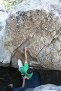 Rock Climbing Photo: Will getting ready for the sloppers on Ruby Slippe...