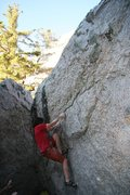 Rock Climbing Photo: Moving along the undercling