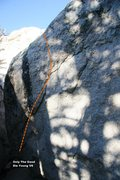 Rock Climbing Photo: Only The Good Die Young V6, Topo