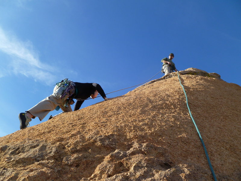 Rock Climbing Photo: The traditional top-out offers fun, moderate slab ...