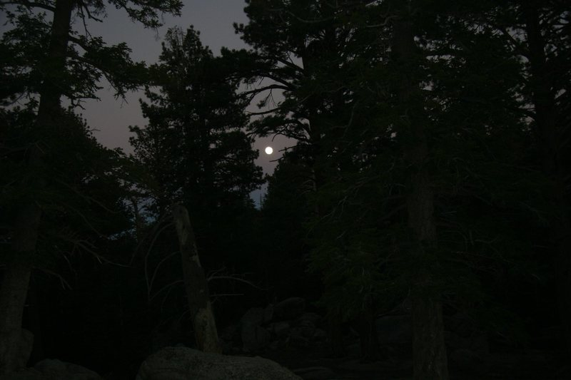 Rock Climbing Photo: Moonrise from the trailside boulders.