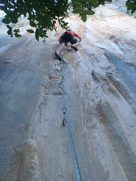 Rock Climbing Photo: Ken on Bloody.  Cennet Turkey