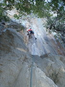 Rock Climbing Photo: In the dihedral/crack