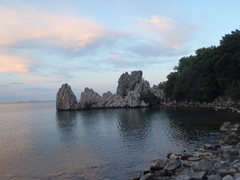 Rock Climbing Photo: View of the beach were the approach heads in the t...