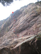 Rock Climbing Photo: The line, back when we were still toproping on it....