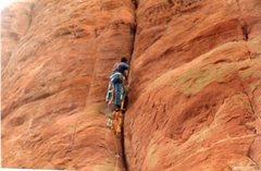 Rock Climbing Photo:  Paul, Climbing up Thompson Ladder 1986.  Remember...