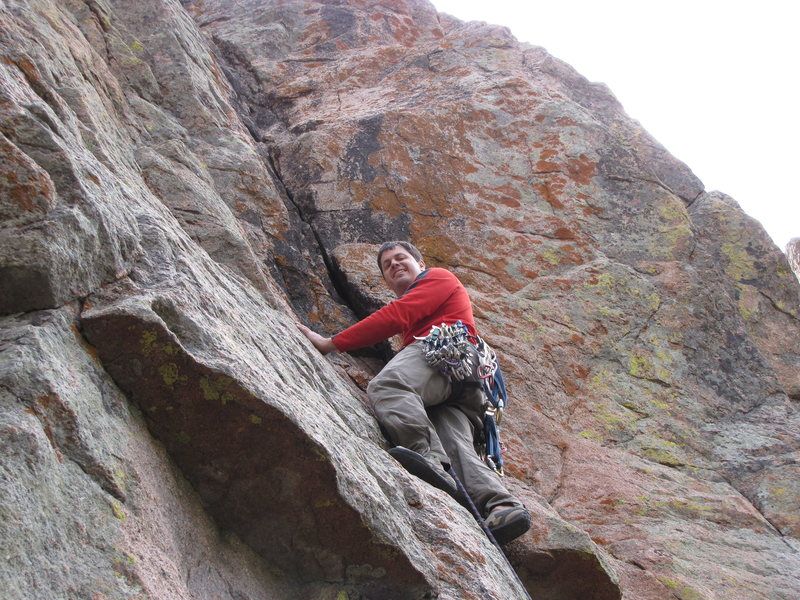 Rock Climbing Photo: Livin the dream on American Beauty (photo by Jerry...