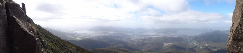 Great views of Hobart, I wish I had this place in my back yard!