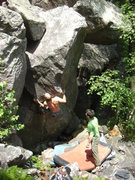 Rock Climbing Photo: Mike's Mix Lohre squeezing the bottom.