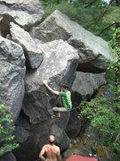 Rock Climbing Photo: Jeremy getting up on it.