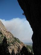 Rock Climbing Photo: Pen 15 is steep....