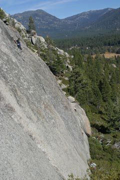 The Pie Shop, South Lake Tahoe. The route is called True Grip.