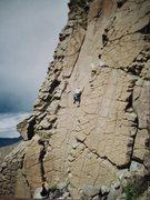 Rock Climbing Photo: Wild women of planet playtex Steve Yasmer leading ...