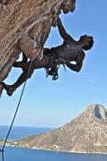 Rock Climbing Photo: Kalymnos crushing