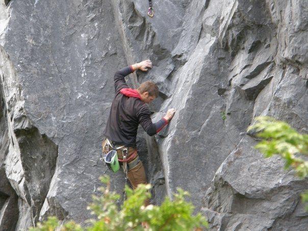 Rock Climbing Photo: Start of Macguffin