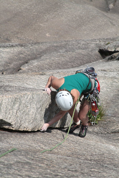 Rock Climbing Photo: lily in the fun corner on pitch 4...