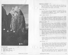 Rock Climbing Photo: Route as recorded in the 1979 Wolff/Dominick Joshu...