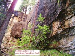 Rock Climbing Photo: Southern Cross:  Short, but quality face climb.  T...