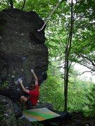 Rock Climbing Photo: Travis before the send.