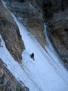 Rock Climbing Photo: Climbing the Second Icefield.  Watch for stonefall...
