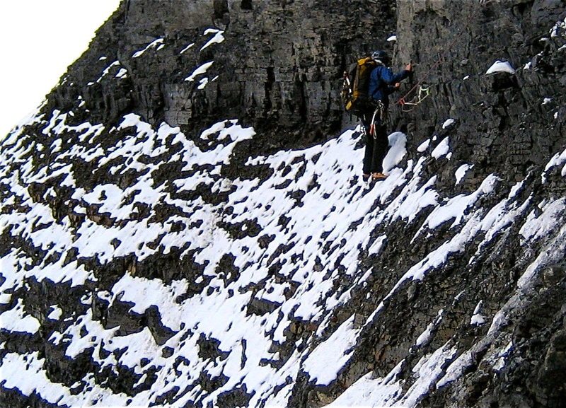 Rock Climbing Photo: Kitty litter, a little snow and manky gear made fo...