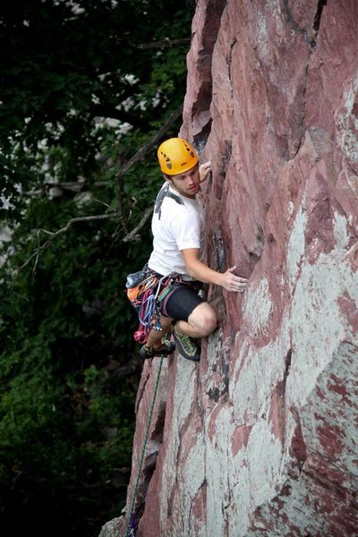Rock Climbing Photo: Ryan engaging the brintons step across. A very spi...