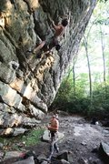 Rock Climbing Photo: Bryan Ferris working the route. Photo Joseph Lascu...