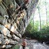 Bryan Ferris working the route. Photo Joseph Lascurain