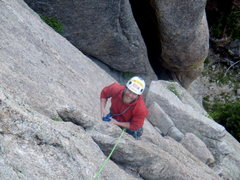 Rock Climbing Photo: John Klooster - Back Flip - Lumpy Ridge - June 17t...