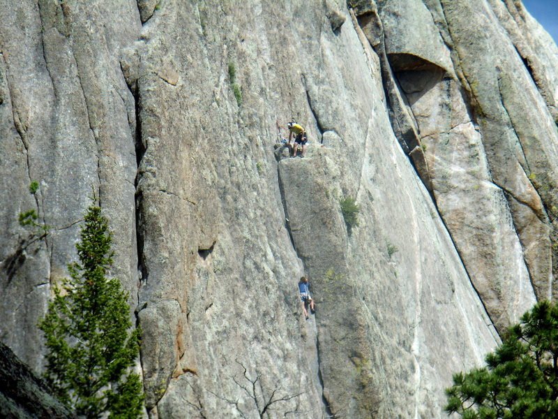 Climbers on Osiris- Lumpy Ridge - June 17th 2011